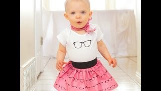 All Eyes On You Retro Baby Poddle Skirt Tutorial And Free Silhouette File