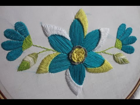 Hand Embroidery Designs | Fantasy flower design | Stitch and Flower-174