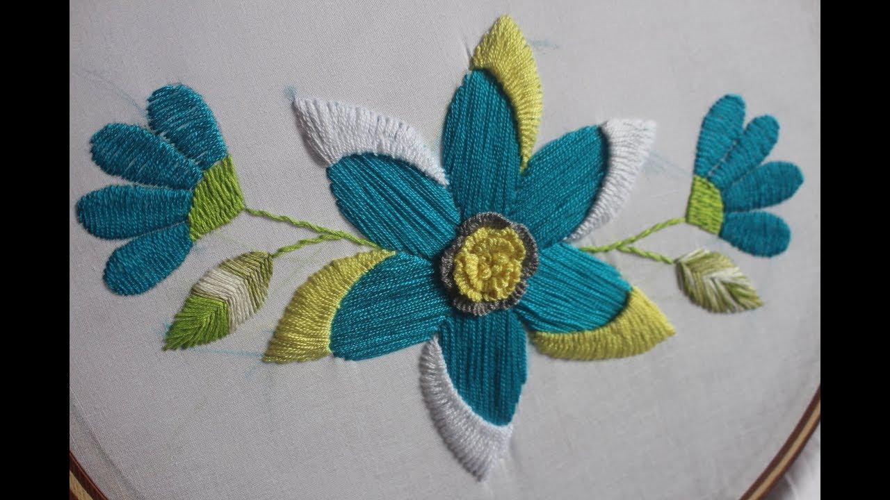Hand Embroidery Designs | Fantasy flower design | Stitch ...