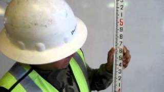 Santana DeLao demonstrates how to read engineer ruler.