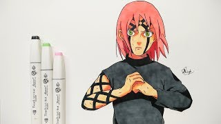 How To Draw Sakura - Step By Step (Tutorial) - NARUTO SHIPPUDEN
