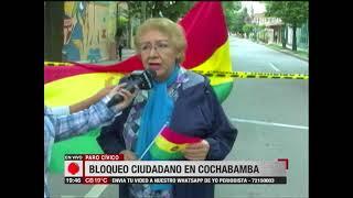 Cochabamba: Bloqueo ciudadano en el paro en contra el Código Penal