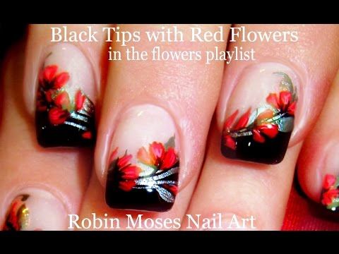 Easy red flower nails diy floral nail art design tutorial youtube easy red flower nails diy floral nail art design tutorial prinsesfo Gallery