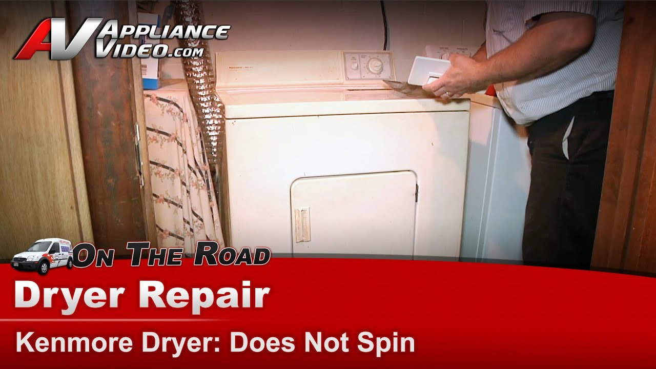 Kenmore Dryer Repair Does Not Spin 11096110100 Youtube Queen Electric Diagnostic Chart Amana Speed