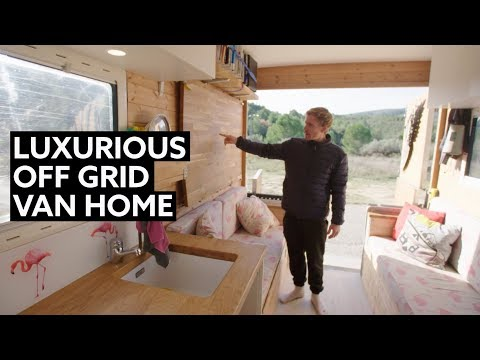 BUILDER shows how he made a LUXURY Off-Grid BOX VAN Conversion
