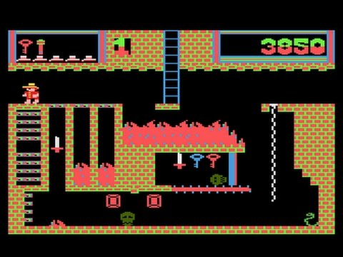 Montezuma De Atari 800xl Con Joystick Arcade Youtube