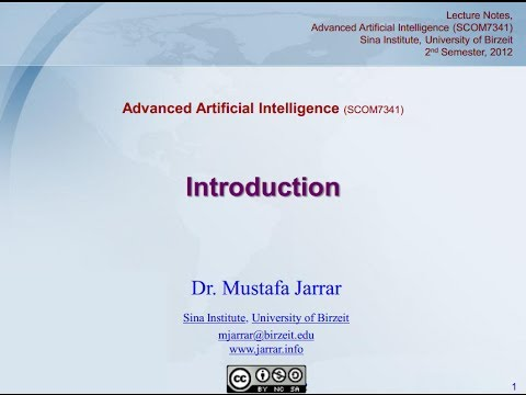 Introduction to Advanced Artificial Intelligence