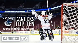 Top 10 Moments from Minor Hockey Weekend