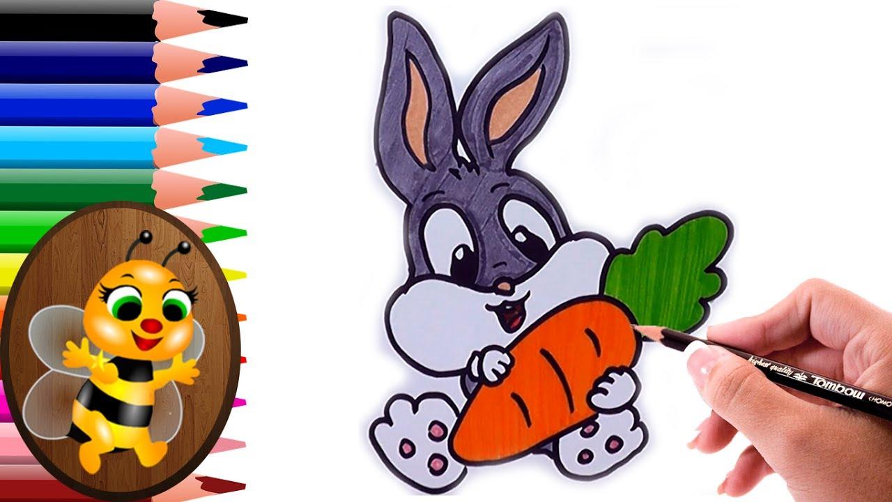 Dibujos Para Colorear Dibujo Para Colorear Bebe Bugs Bunny: Dibujando Y Coloreando A Bugs Bunny Bebe