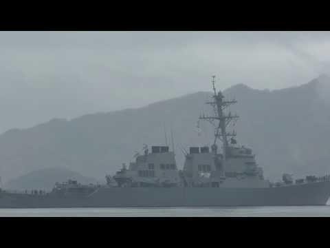 U141125 米海軍駆逐艦『John S.McCain』 舞鶴基地出港