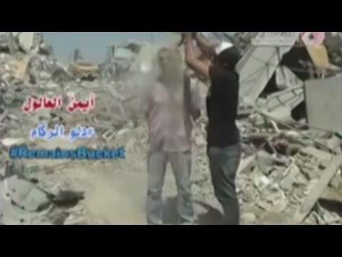 Rubble Bucket Challenge, l'Ice Bucket Challenge a Gaza tra le macerie