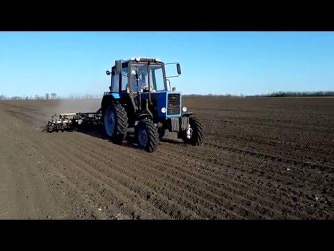 Трактор МТЗ 82.1 и культиватор КПС-4