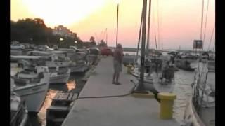 Яхта Святитель Николай, поход в Грецию, город Коринф(Поход в Грецию на яхте Святитель Николай, побережье город Коринф., 2010-09-06T10:13:48.000Z)