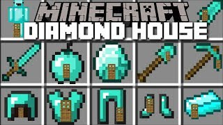 - Minecraft DIAMOND HOUSE MOD LIVING INSIDE A DIAMOND BLOCK Minecraft