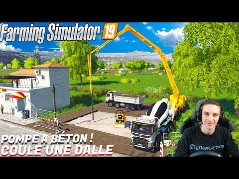 UNE POMPE A BÉTON SUR MON CHANTIER TP ! Farming Simulator