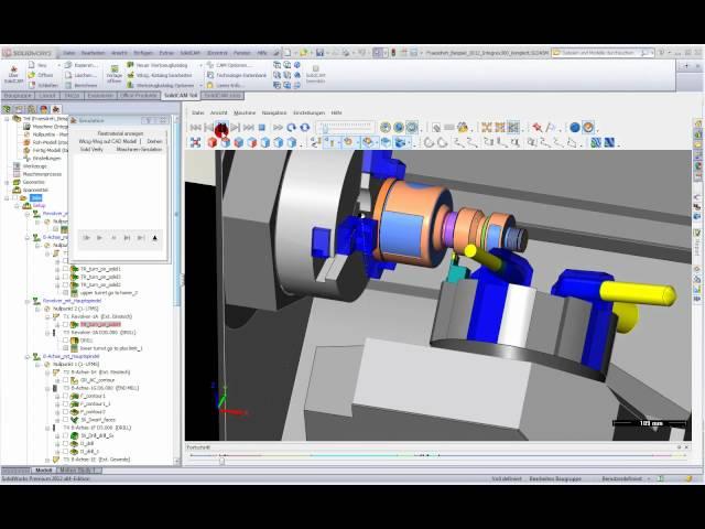Maschinen-Simulation beim Drehfräsen