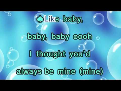 Justin Bieber - Baby ft. Ludacris (Karaoke and Lyrics Version)
