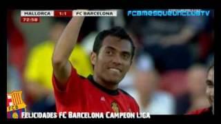 RCD Mallorca Vs F.C Barcelona 2-1  Campeón de liga