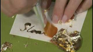 Gold Leafing with Quickie Glue