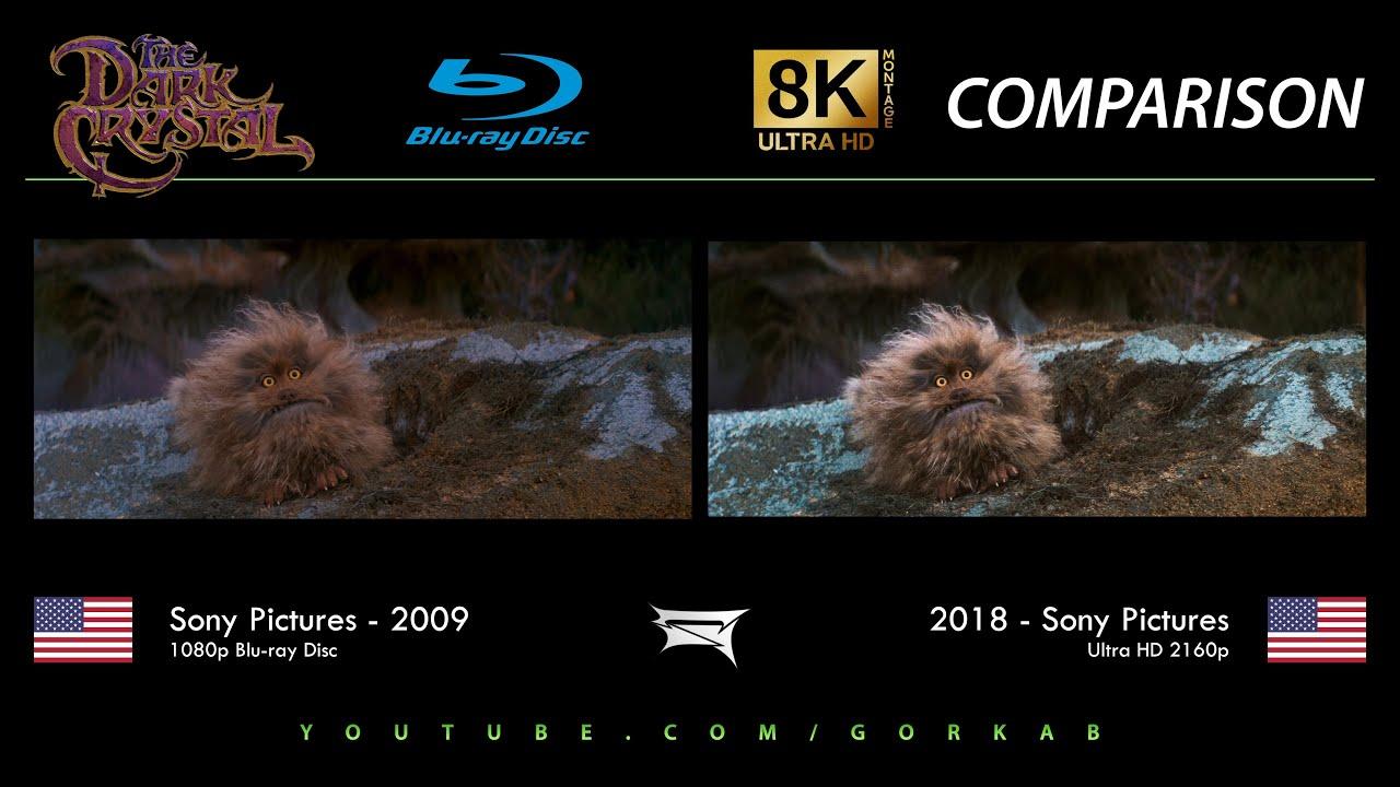 Blu-ray Versus - The Dark Crystal (2009 vs 2018) 8K ULTRA HD Comparison