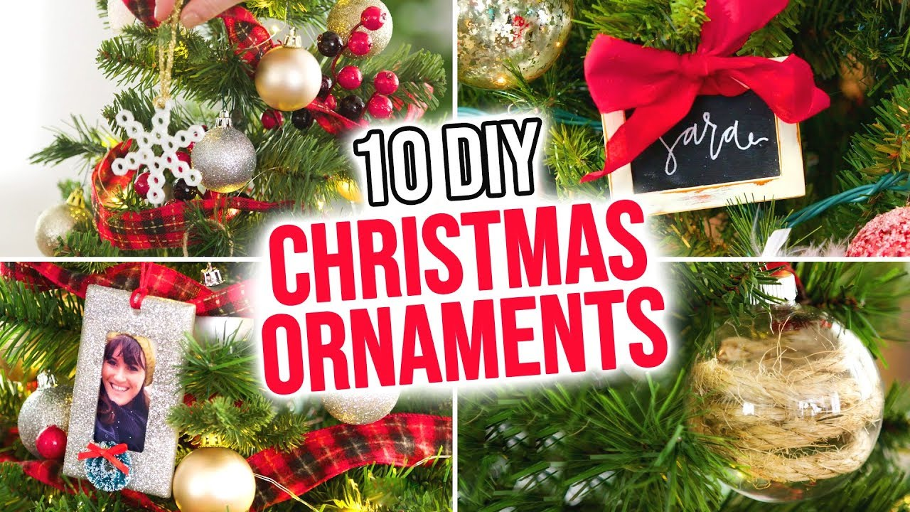 10 Diy Christmas Ornaments Hgtv Handmade Youtube