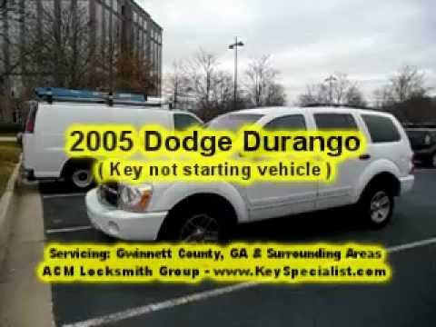 Atlanta GA: 2005 Dodge Durango - Key w/chip not starting vehicle!