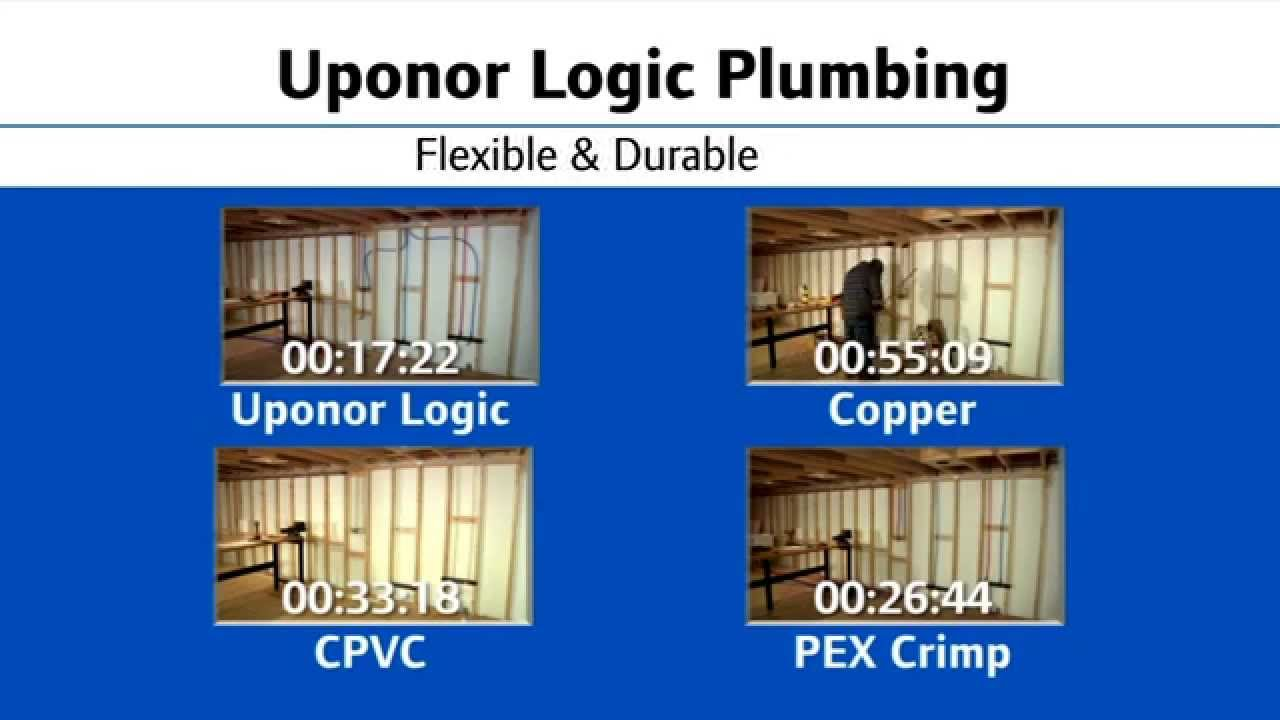 Uponor logic vs cpvc vs copper vs pex crimp youtube for Plastic plumbing vs copper