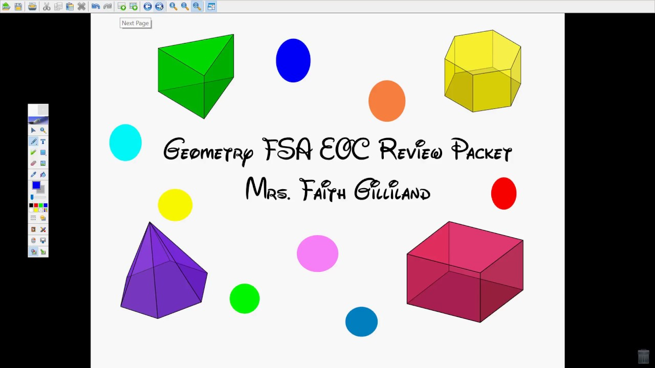 FSA Geometry EOC Review Video #1 1-12 - YouTube