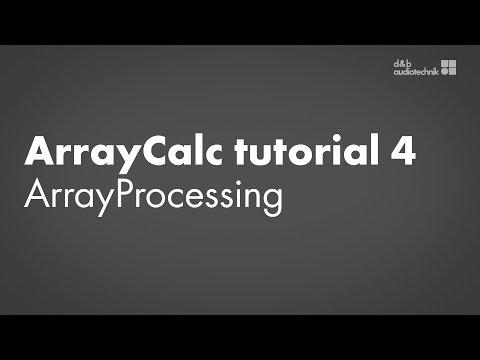 ArrayCalc tutorial 4 ArrayProcessing simulation