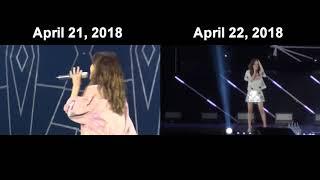 """SNSD Taeyeon Apr 21, 2018 vs Apr 22, 2018 (I'm OK) - """"Appa, do you know SWAG?"""" - Stafaband"""