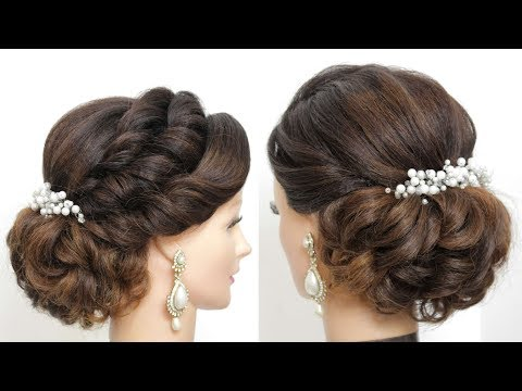 Bridal Updo For Long Hair Tutorial. Wedding Prom Hairstyle thumbnail