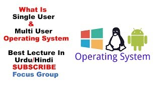Single User & Multi User Operating System | Computer Science | Lecture in Urdu/Hindi