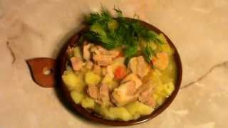 ДОМАШНЕЕ ЖАРКОЕ вкусно МЯСО любое(курица.говядина,баранина,свинина)картошка лук помидор чеснок