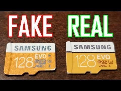 Fake VS Real - Samsung EVO 128gb MicroSDXC Card