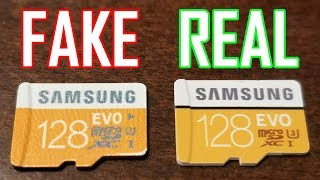 Fake VS Real - Samsung EVO 128gb microSDXC Card