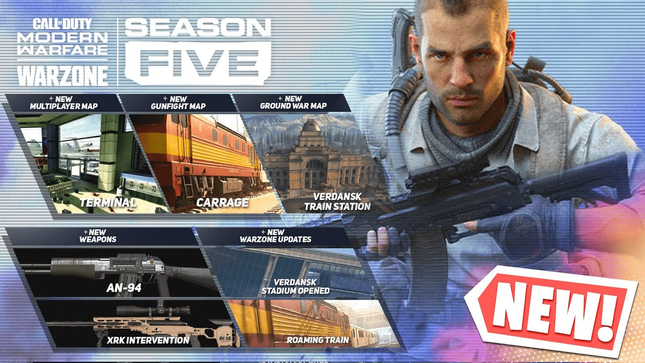 Season 5 Live Event Confirmed Modern Warfare Warzone Season 5 Map Changes Weapons Release Date Youtube