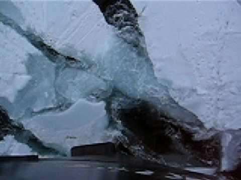 Marine ship ice breaking Antarctica