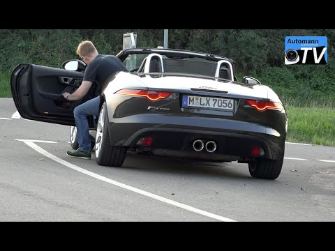 2015 Jaguar F-Type Cabrio (340hp) - DRIVE & SOUND (1080p)