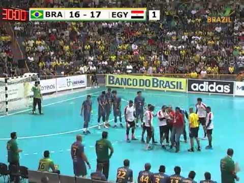 Brazil vs Egypt 2015 Men's Junior World Handball Championship