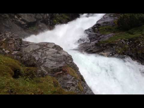 High waterfalls in Norway (Norddal, Stryn)