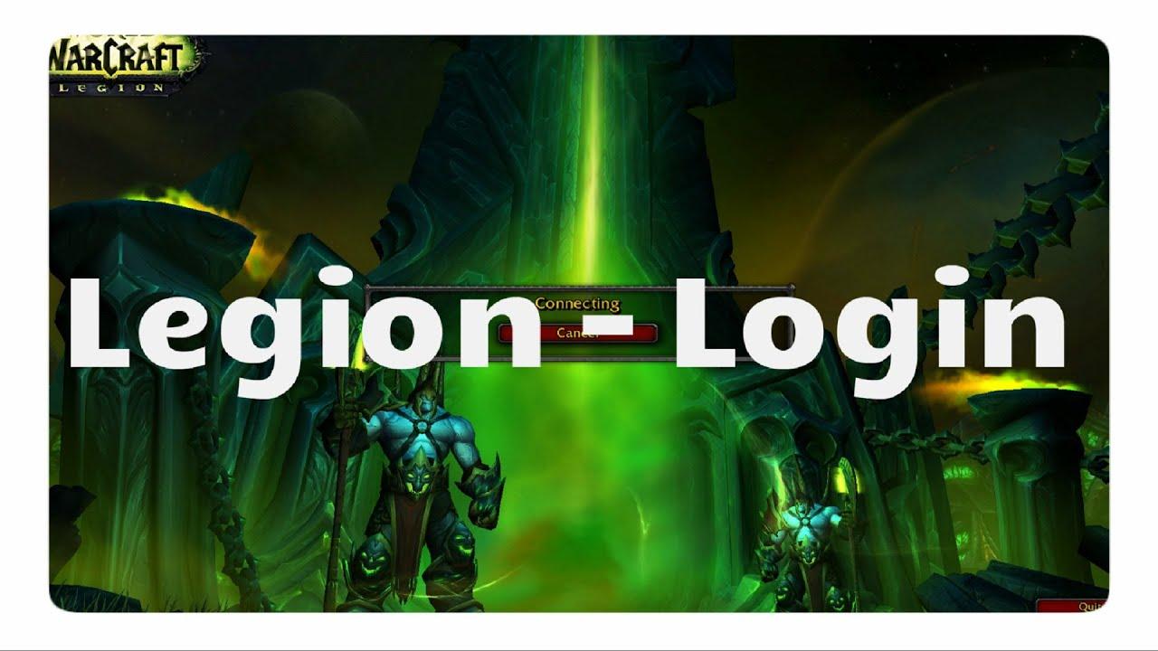 Legion Login Screen