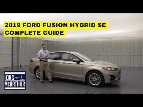 2019 FORD FUSION HYBRID SE COMPLETE GUIDE - STANDARD AND OPTIONAL EQUIPMENT