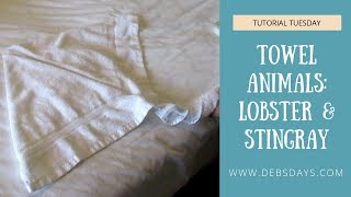 Learn How to Make Towel Animals - Lobster and Stingray