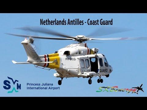 Netherlands Antilles - Coast Guard, Agusta-Westland AW-139 arriving @ St. Maarten