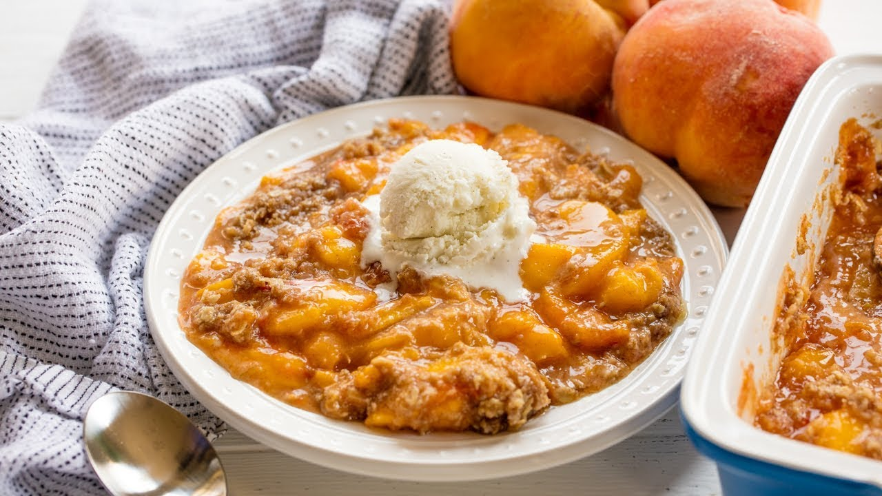 Download How to Make The Best Ever Peach Crisp | The Stay At Home Chef
