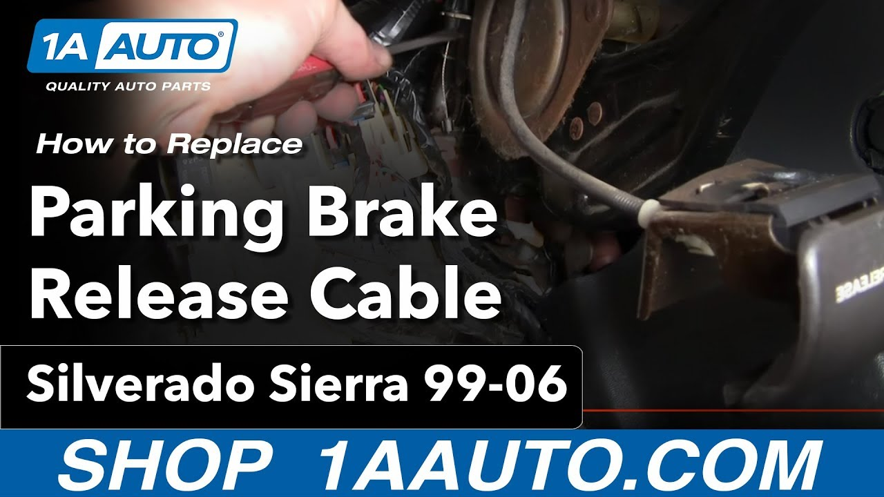 how to replace parking brake release handle 99 06 gmc sierra [ 1280 x 720 Pixel ]