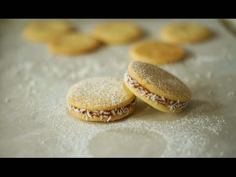 Alfajores (Cookies with Coconut and Dulce de Leche) - Baking Building Blocks
