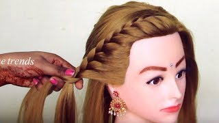How to: Side French Braid Hairstyle for Beginners | Easy Hairstyle for girls 2019 | updo hairstyles