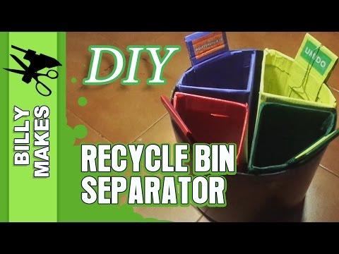 DIY Recycle Bin Separator - Weekend Project Life Hack!