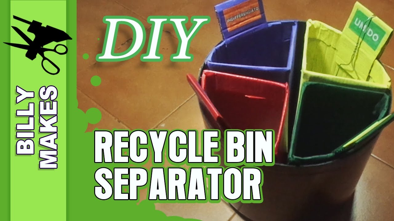 Diy Recycle Bin Separator Weekend Project Life Hack